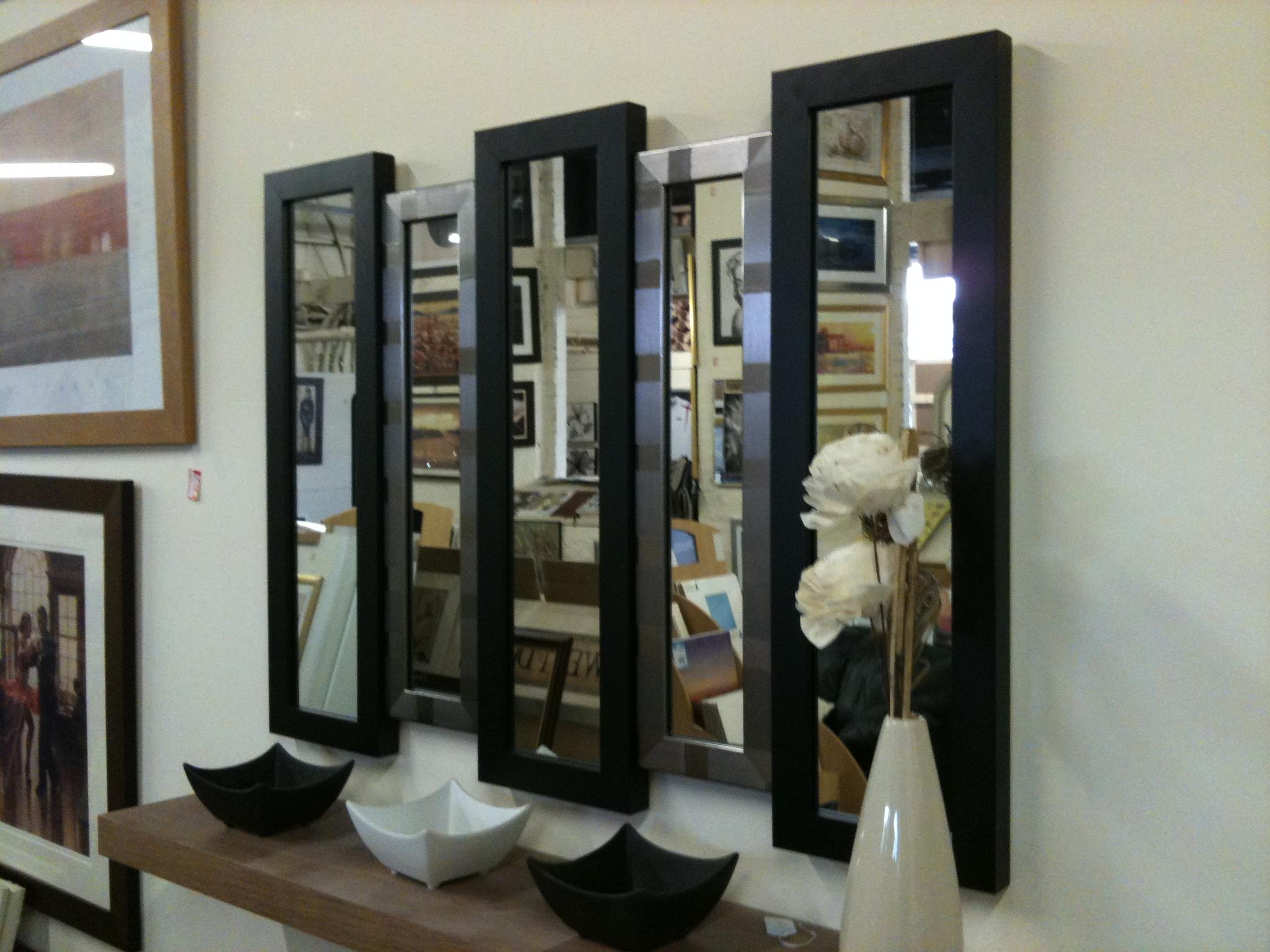 New Blacksilver 5 Panel Wall Mirror 105 X 76 Cm