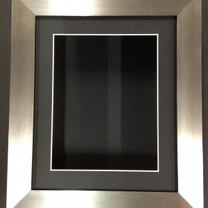 10×8 BRUSHED SILVER (55mm) DEEP 3D SHADOW BOX,CASTS,FLOWERS,MEDALS,3D FRAMING