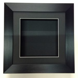8 X 8 black-55mm-DEEP-3D-SHADOW-BOX-CASTS-FLOWERS-MEDALS-3D-FRAMING