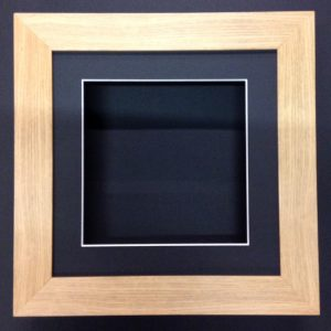 8 X 8 oak-55mm-DEEP-3D-SHADOW-BOX-CASTS-FLOWERS-MEDALS-3D-FRAMING