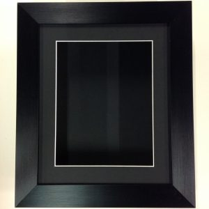 12×10 BLACK (55mm) DEEP 3D SHADOW BOX,CASTS,FLOWERS,MEDALS,3D FRAMING