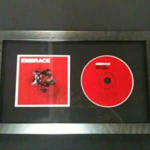CD / MUSIC ALBUM COVER MEMORABILIA PICTURE FRAME WITH GLASS AND MOUNT.