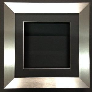 10×10 BRUSHED SILVER (55mm) DEEP 3D SHADOW BOX,CASTS,FLOWERS,MEDALS,3D FRAMING